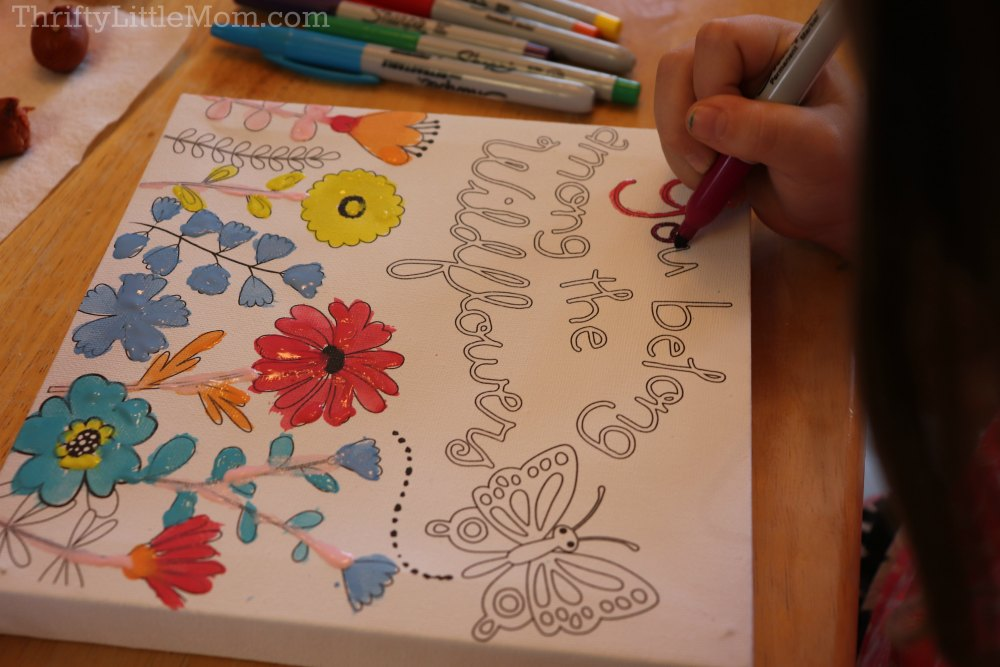 Painting Party for Kids- pre-lined canvas with art markers