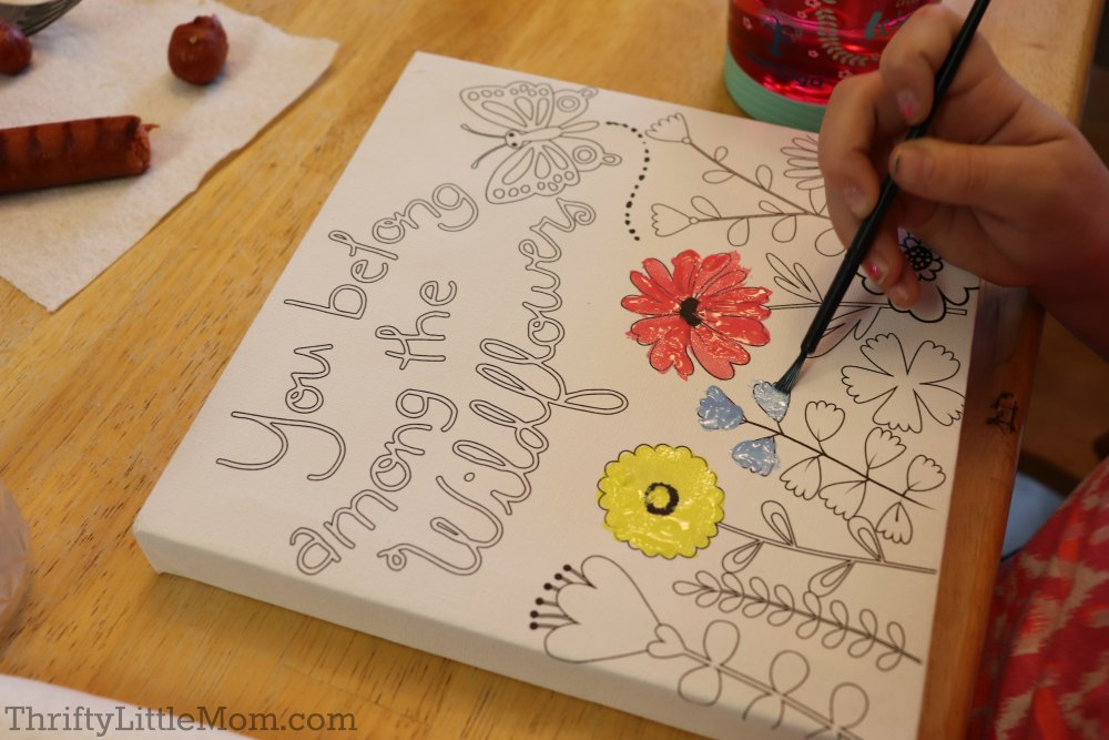 host a painting party for an 8 year old birthday party idea