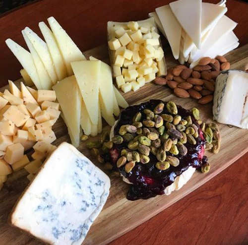 seven cheese paring cheese board