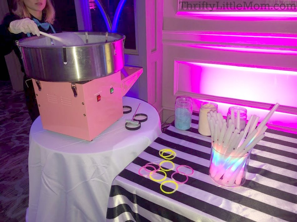 Retro cotton candy machine for 80's party