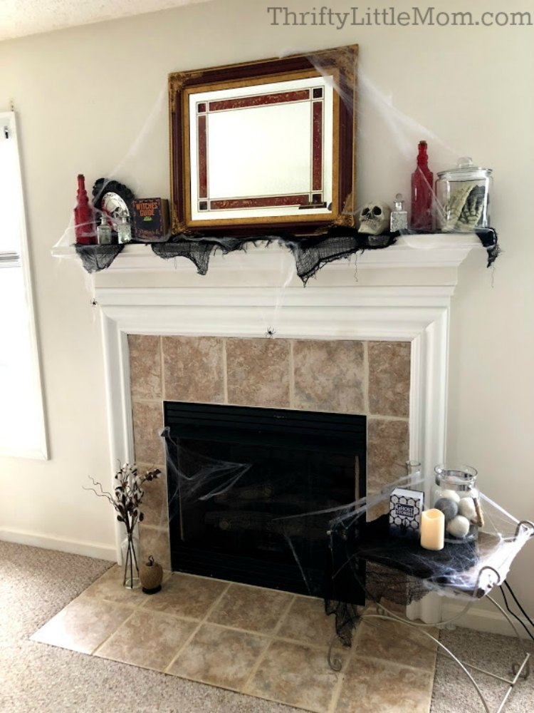 costume party full mantel decoration ideas
