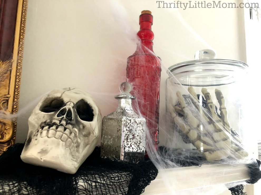 spooky skull costume party decorations