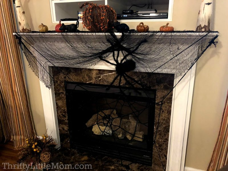 fireplace mantel costume party decorations