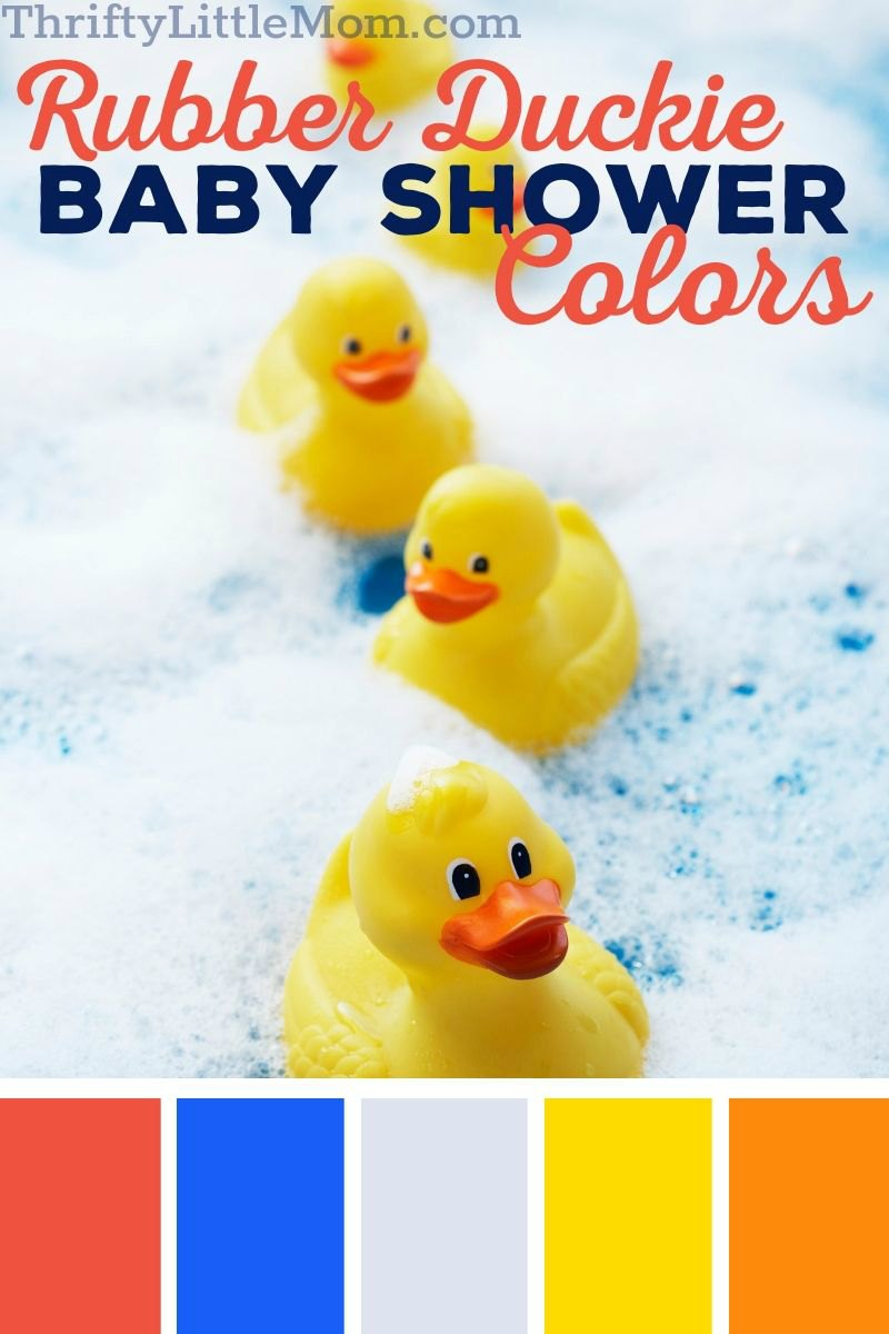 rubber duckies in bubbles for baby shower decoration ideas