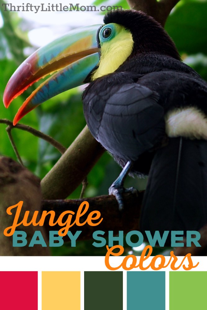 colors for jungle themed baby shower decoration ideas