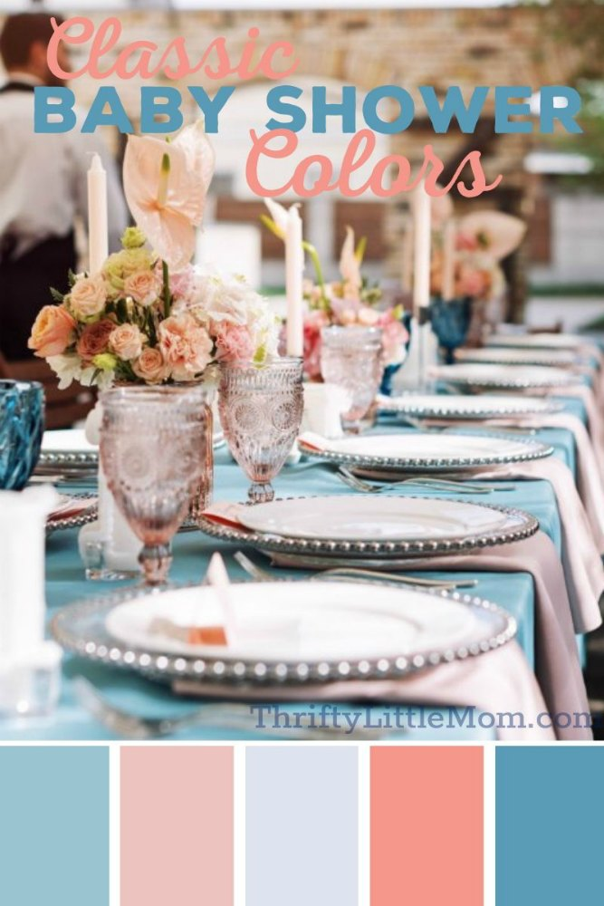 pink and blue baby shower decoration ideas