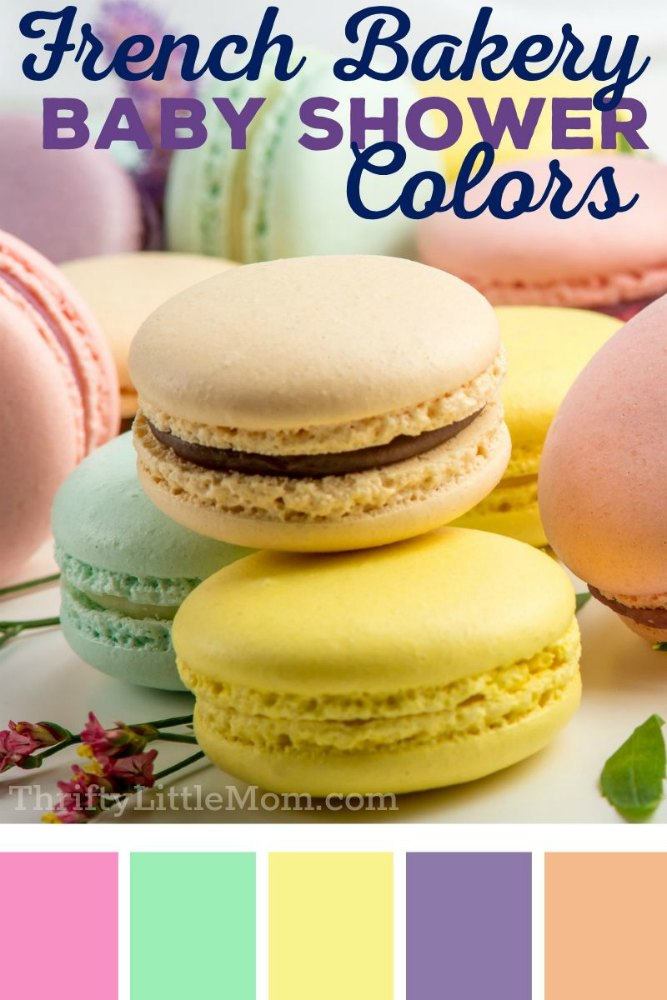 pastel pastry colors for baby shower decoration ideas