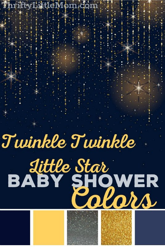 navy and gold twinkle star baby shower decoration ideas