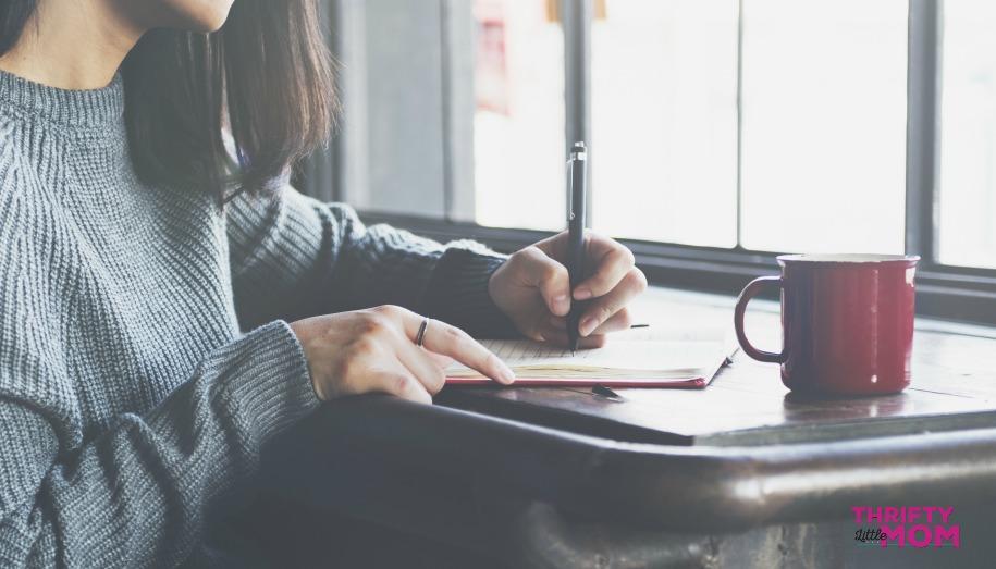 Woman making a list