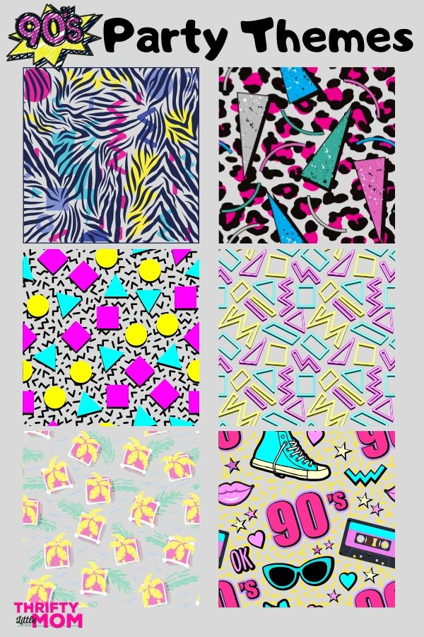 6 Funky 90s Party Patterns