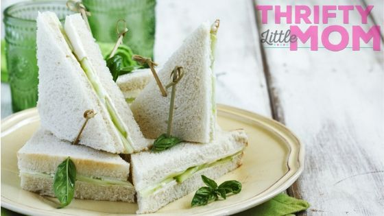 great gatsby party appetizer cucumber sandwich