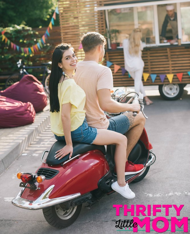 ride on a scooter for 16th birthday party