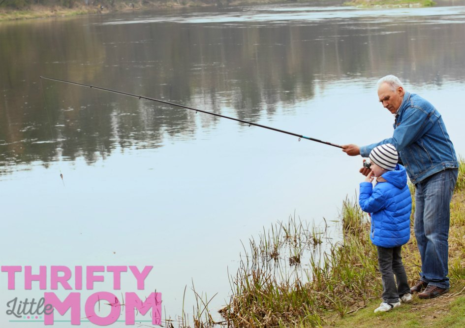 Family enjoying day at the lake for 70th birthday