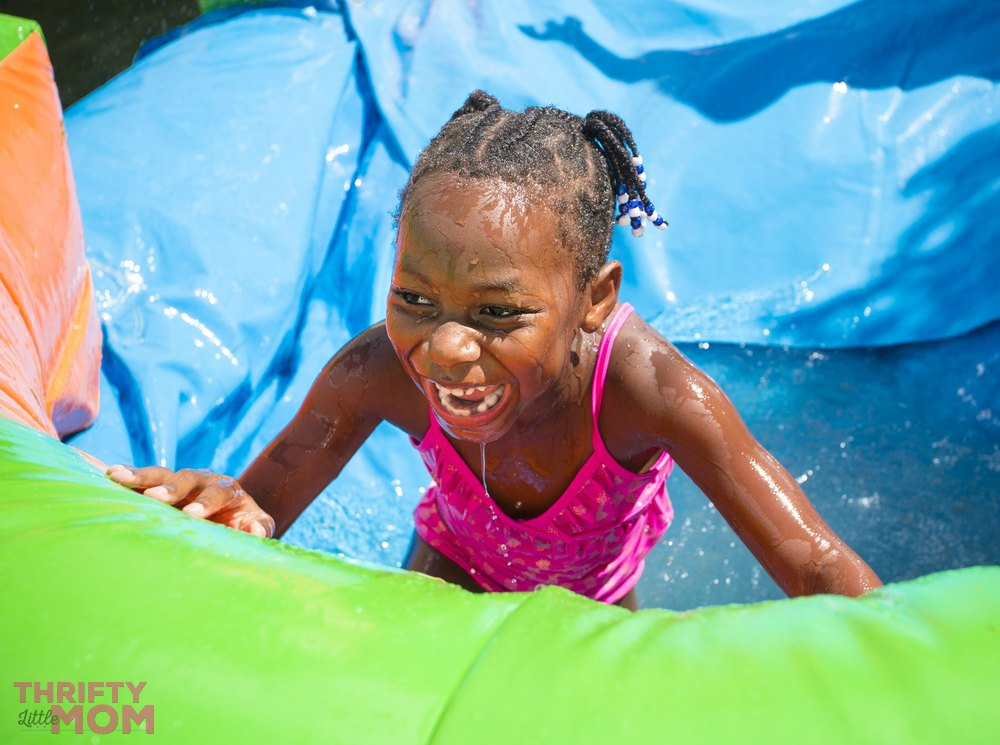 splash down area in inflatable bouncy house