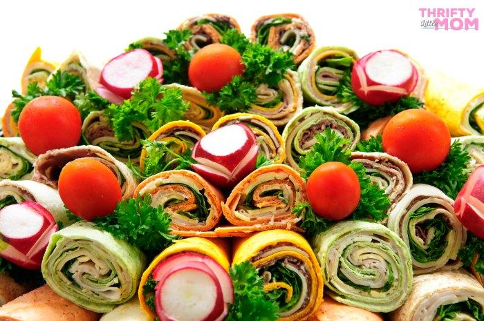 sandwich wraps platter idea