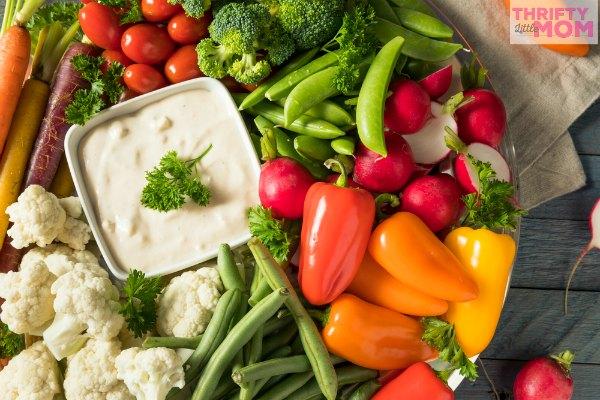 veggie tray platter idea