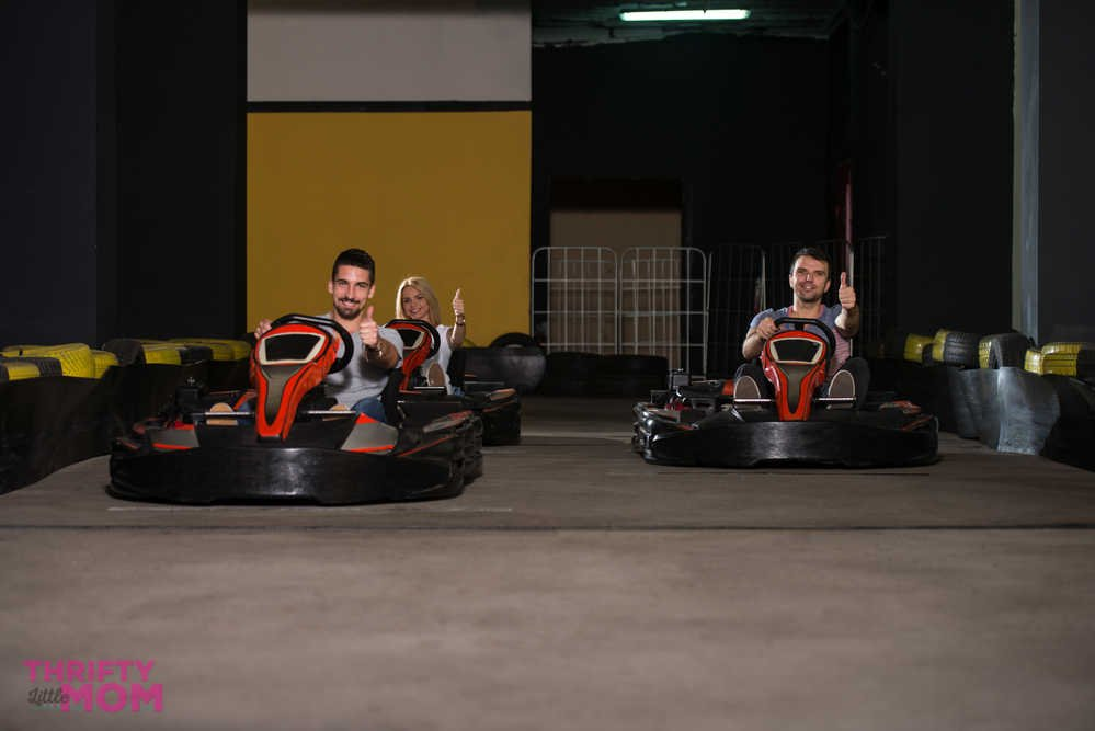 race indoors at corporate christmas party