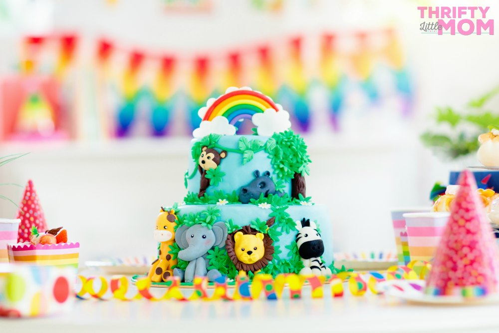 jungle cake for boy baby shower