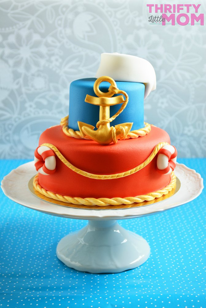 nautical cake for boy baby shower
