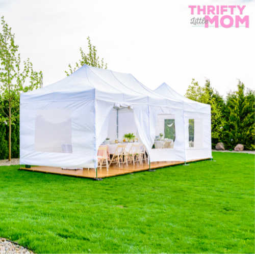 tent rental that has wood flooring