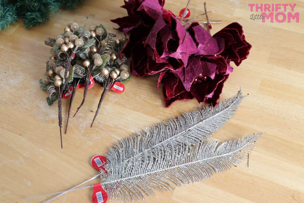 decorative items for poinsettia decor wreath