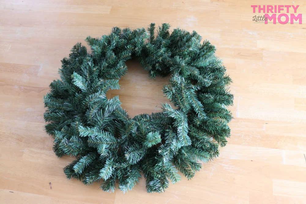 base for poinsettia decor wreath