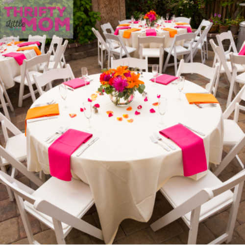 renting tables and chairs at your next event