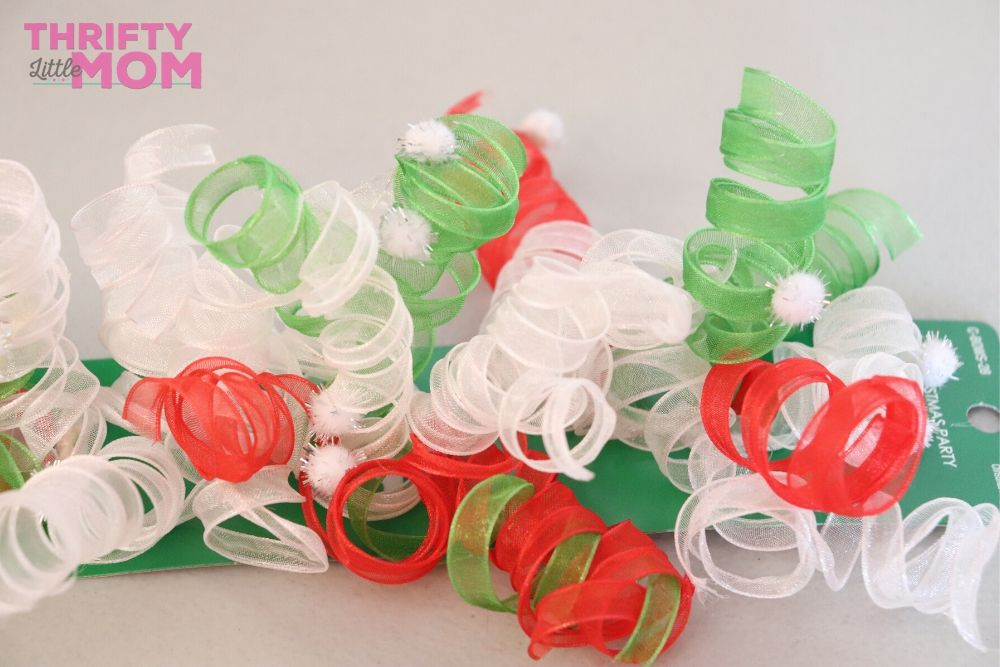 ribbon clusters for grinch christmas tree