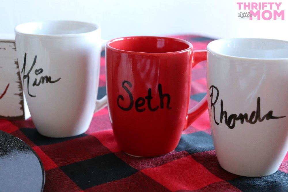 mugs with names handwritten