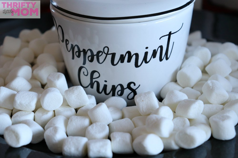 marshmallows to put on top of hot chocolate