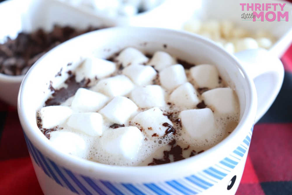 hot chocolate topped with marshmallow