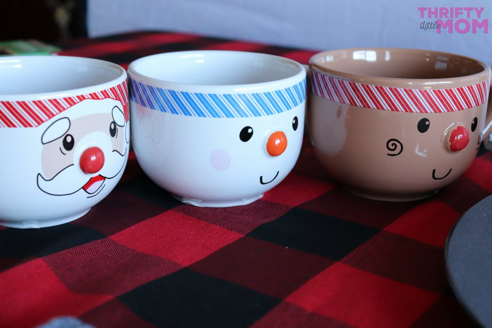 holiday mugs for hot chocolate bar