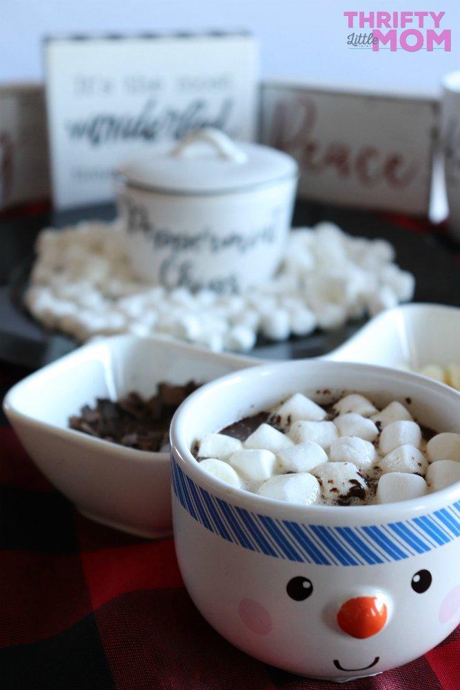 hot chocolate bar table layout