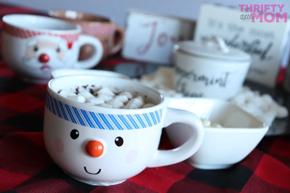cute mug with marshmallows for hot chocolate