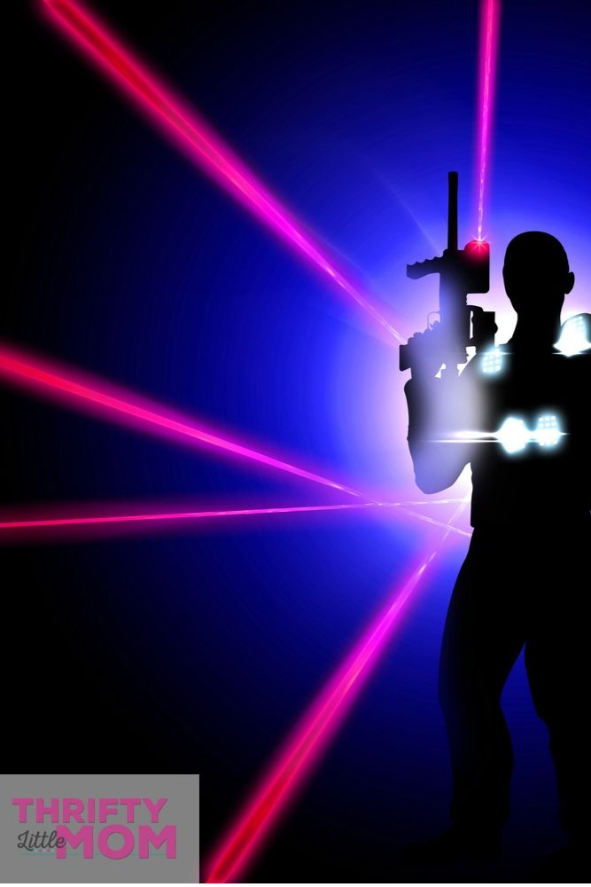 play laser tag for your 11 year old boy birthday party idea