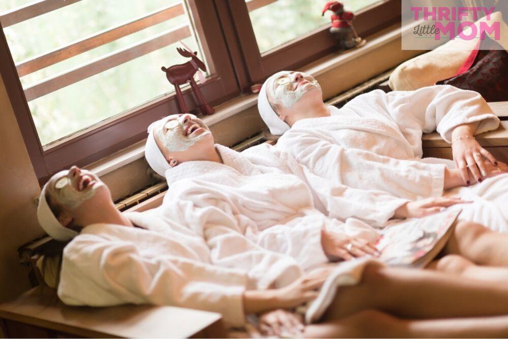 women enjoying a spa day