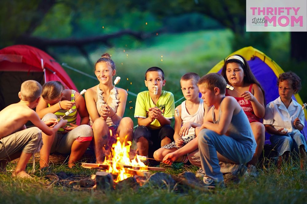 kids camping for 11 year old boy birthday party ideas