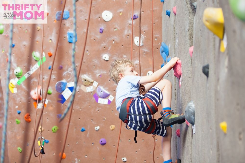 9 year old boy rock climbing for birthday party ideas