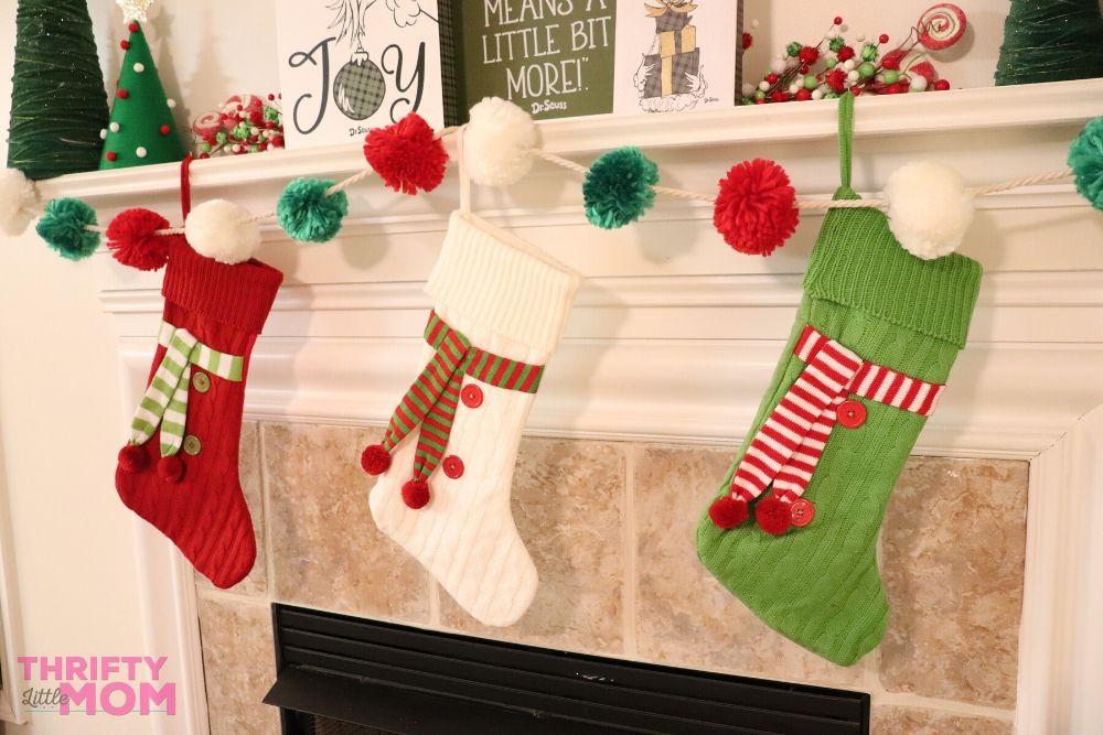 stockings for grinch christmas decorations