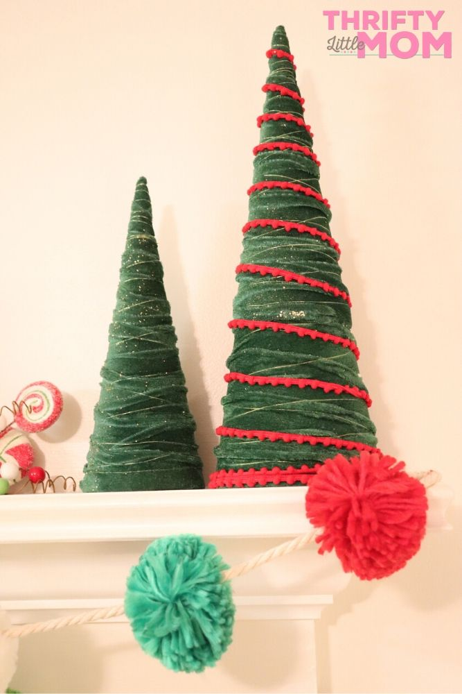 trees to add height to fireplace mantle decorations