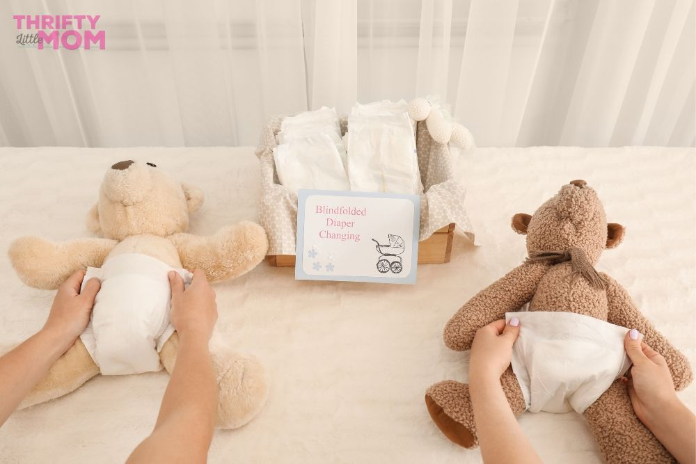 change a diaper blindfolded game