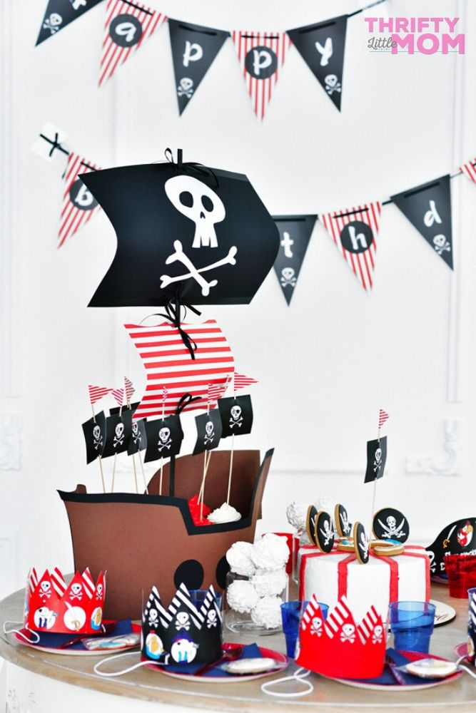 pirate ship dessert decorations party supplies 5th birthday