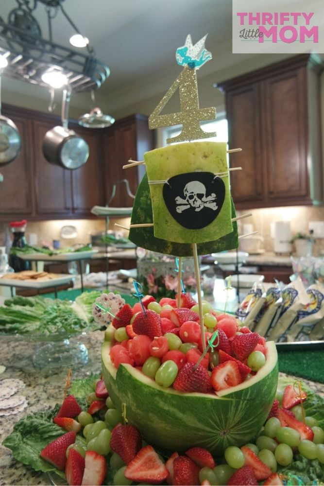 DIY fruit pirate ship party supply