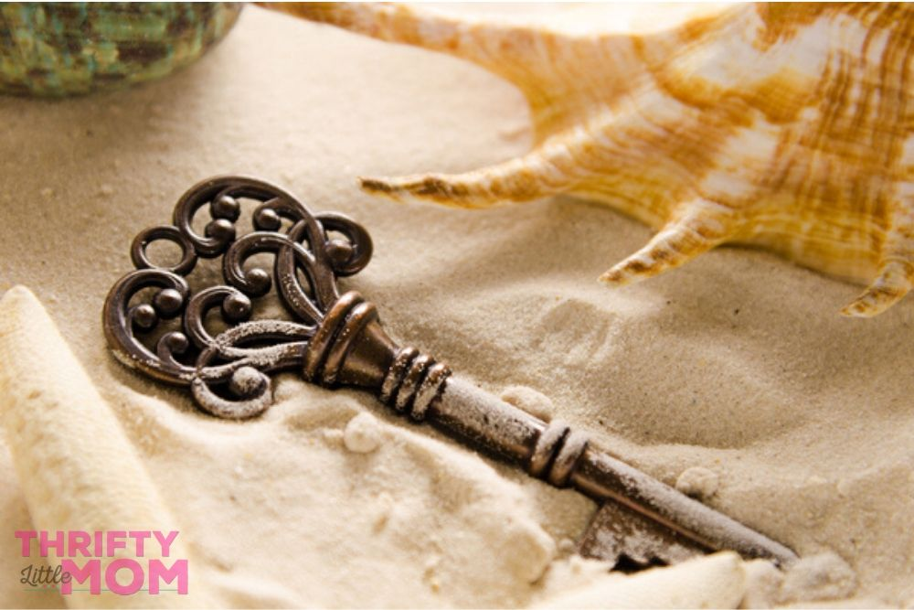 antique key decoration for pirate party