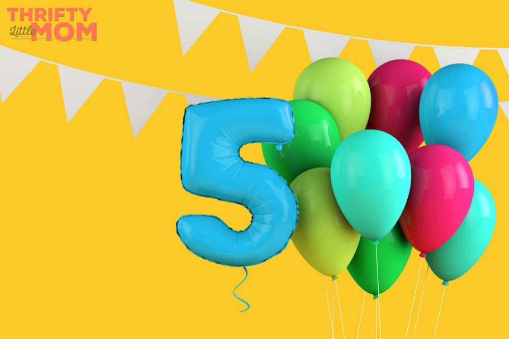 balloons to celebrate 5th birthday party