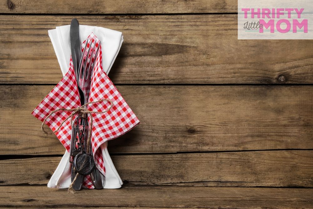 gingham check napkins for cowboy baby shower