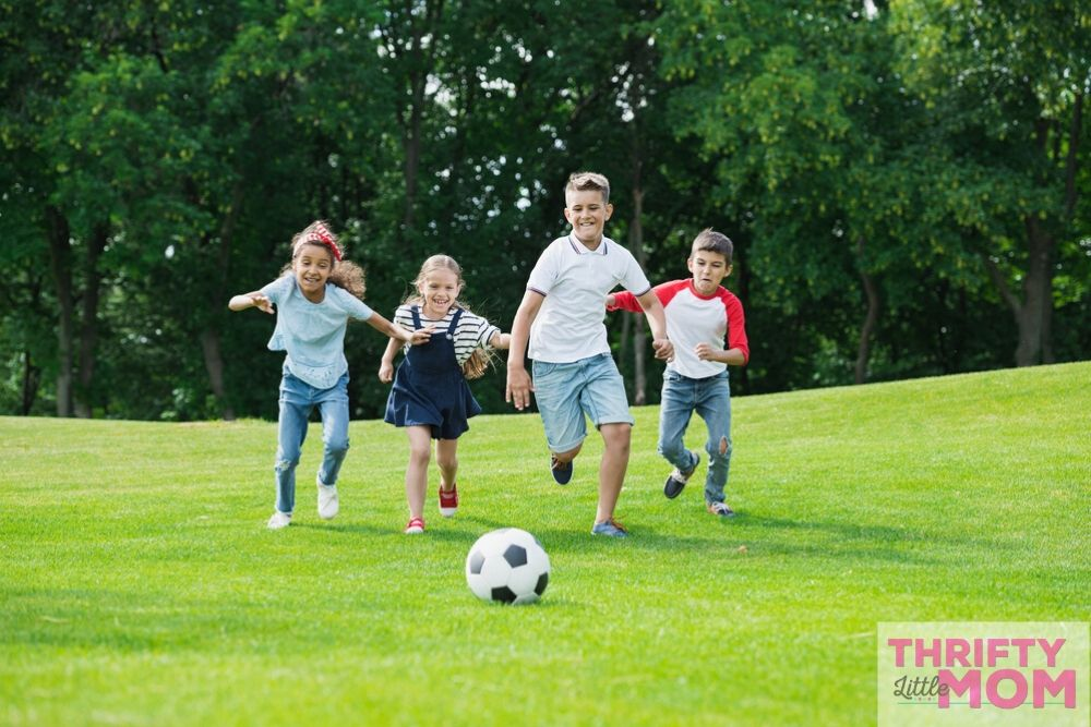 kids love playing at soccer for 11 year old boy birthday party idea