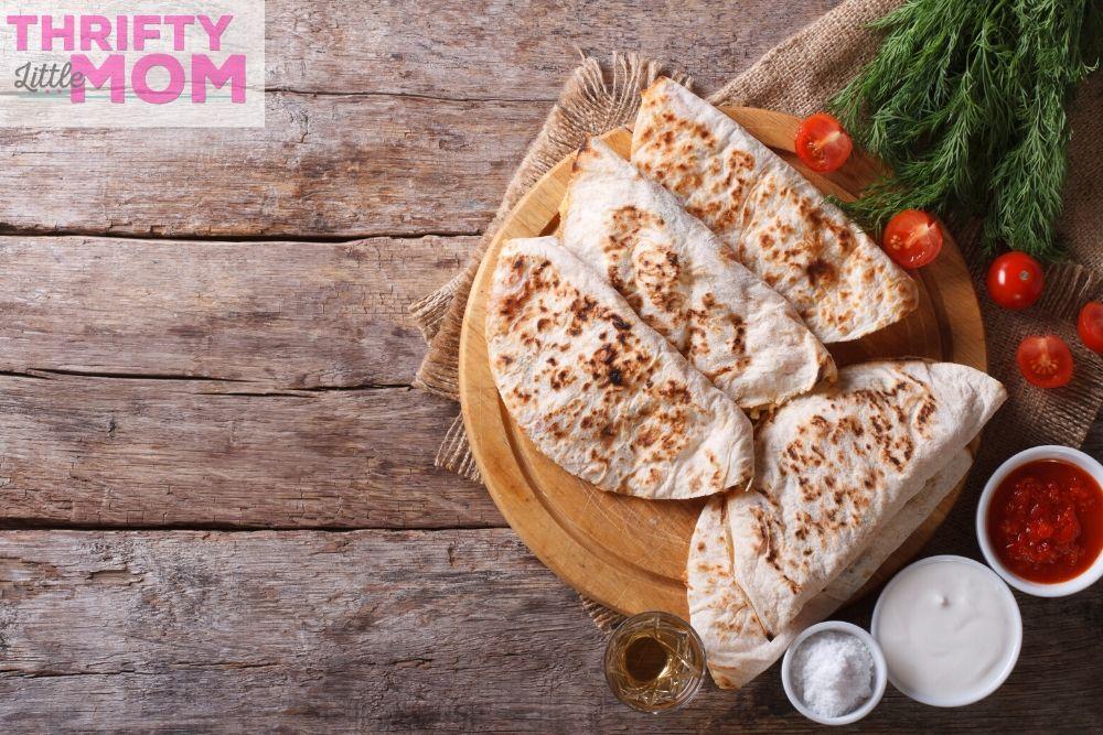 enjoy quick quesadillas at a soccer birthday party