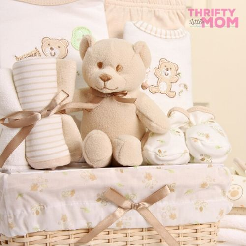 teddy bear baby shower gift basket