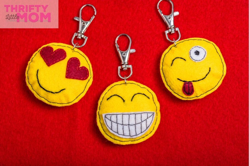 emoji keychains are popular with teen birthday favors